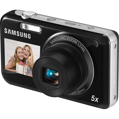 PL120 14MP Dual View Black Digital Camera with 5X Optical Lens - OPEN BOX