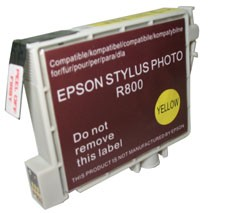 Replacement Ink Cartridge (Yellow) for Epson Stylus R800/R1800