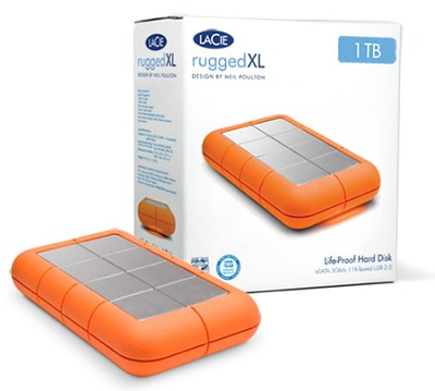 301848U USB 2.0 Neil Poulton 1TB Rugged XL eSATA External Hard Drive