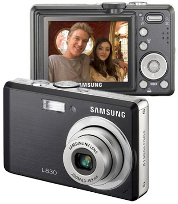 Digimax L830 8.1 MP Digital Camera (Black)