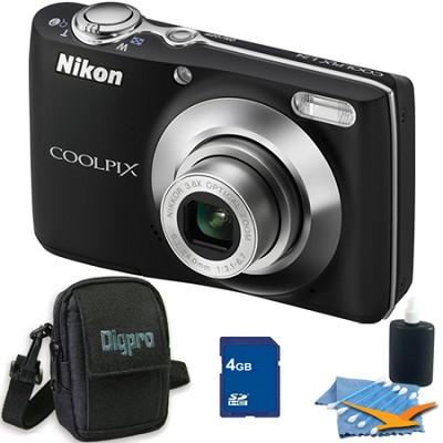 COOLPIX L24 14MP Black Digital Camera 4GB Bundle
