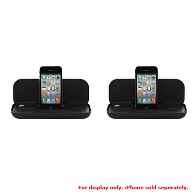 MA3122 Ultra Portable Travel Speaker for iPod and iPhone - 2 Pack