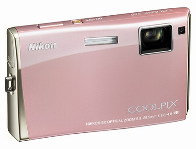 Coolpix S60 Digital Camera (Champagne Pink)
