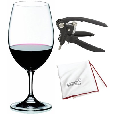 Ouverture Magnum Glass 2 Pieces  - 6408/90 w/ Corkscrew & Polishing Cloth