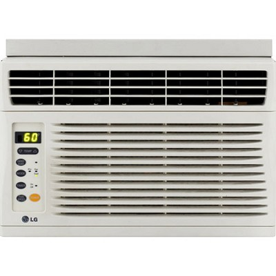 6,000 BTU Window-Mounted Air Conditioner with Remote Control (115 volts)