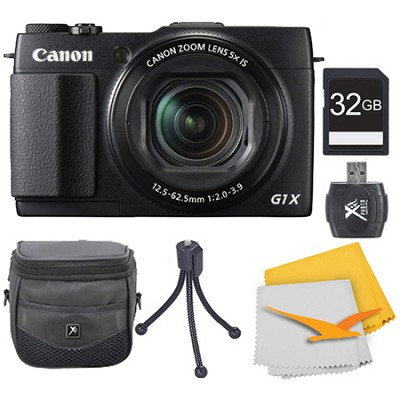 PowerShot G1 X Mark II Digital Camera 32GB Kit