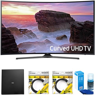 Curved 65` 4K HDR Ultra HD Smart LED TV 2017 Model with Antenna Bundle