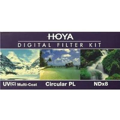 62mm Digital Filter Kit With UV, Circular Polarizer, NDX8 - OPEN BOX