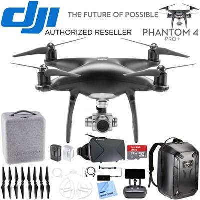 Phantom 4 PRO+ Plus Quadcopter Drone w Deluxe Controller Obsidian Edition Bundle