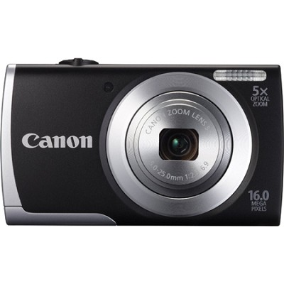 Powershot A2500 Black 16MP Digital Camera with 5x Opt. Zoom and Smart AUTO