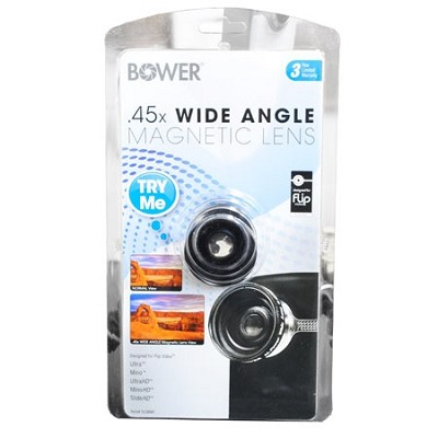 .45X Wide Angle Magnetic  Lens for the Flip Video Cameras- Black