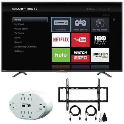 N4000 FHD 55` Class WiFi Roku 60Hz LED Smart TV 55N4000U w/ Mount Bundle