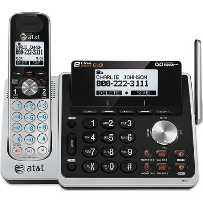 TL88102 DECT 6.0 2-Line Cordless Answering System