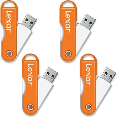 JumpDrive TwistTurn 16GB High Speed USB Flash Drive (Orange) 4-Pack (64GB Total)
