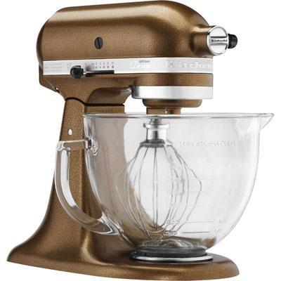 Artisan Series 5-Quart Stand Mixer in Antique Copper w/ Glass Bowl - KSM155GBQC