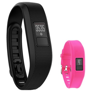 Vivofit 3 Activity Tracker Fitness Band XL w/ Replacement Band (Rose)