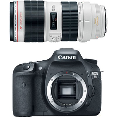 EOS 7D 18 Megapixel SLR Digital Camera w/ 70-200mm f/2.8L II