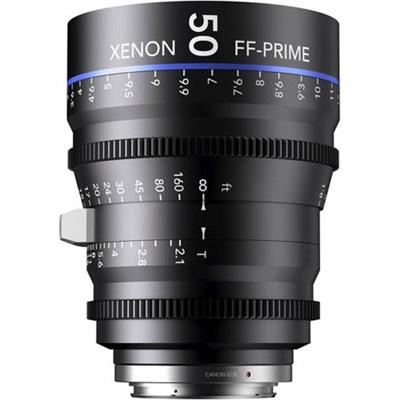 50MM Xenon Full Frame 4K Prime XN 2.1 / 50 Feet Lens for Sony E Mounts
