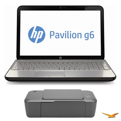 Pavilion 15.6` g6-2219nr Notebook PC and HP 1000 Printer Bundle