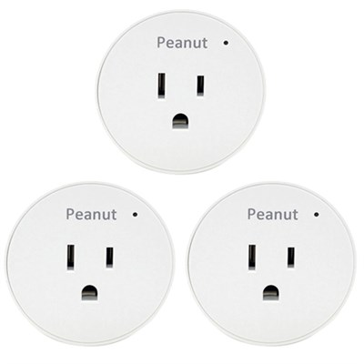 Smart Peanut Plug for Android and iOS PP-WHT-US 3 Pack