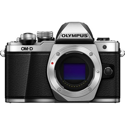 OM-D E-M10 Mark II Micro Four Thirds Digital Camera Body (Silver) Refurbished