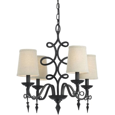 Rhythm Mini Chandelier in Oil Rubbed Bronze - 8601-4H