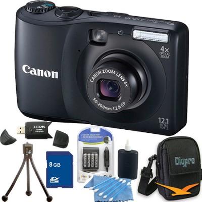 PowerShot A1200 Black Digital Camera 8GB Bundle