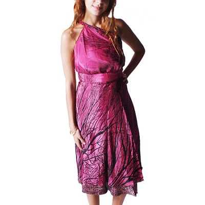 100 Way Wrap Skirt Dress, Saba Vine - Pink (One Size)