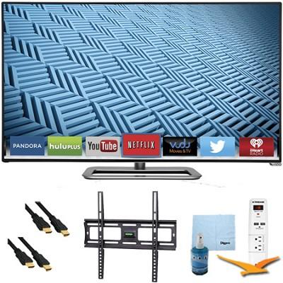 M652i-B - 65` 1080p 240Hz Ultra-Slim LED Smart HDTV Plus Mount & Hook-Up Bundle