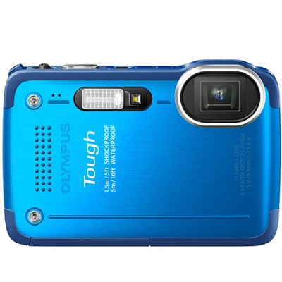 STYLUS TG-630 12MP 3-inch LCD 1080p HD Digital Camera - Blue Factory Recertified