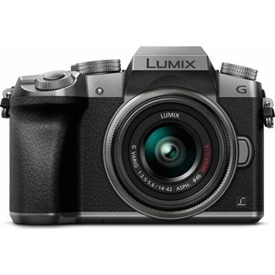 LUMIX G7 Interchangeable Lens 4K Ultra HD Silver DSLM w/ 14-42mm Lens - OPEN BOX