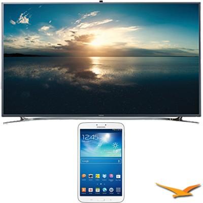 UN65F9000 - 65` 4K Ultra HD 120Hz 3D Smart LED TV - 8-Inch Galaxy Tab 3 Bundle