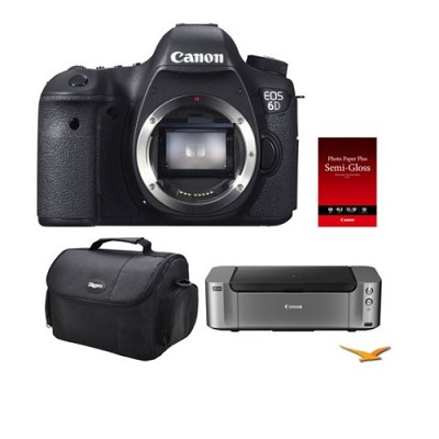 EOS 6D DSLR Camera (Body Only) + Pro100 Printer/Case/Paper