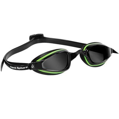 K180+ Swim Goggles with Smoke Lens and Green/Black Frame - 173070