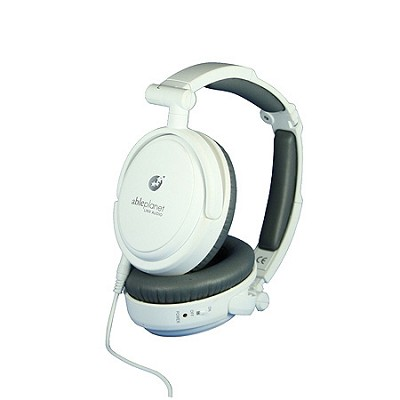 NC200W True Fidelity Foldable Active Noise-Canceling Headphones (White)