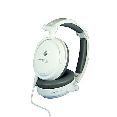 NC200W True Fidelity Foldable Active Noise-Canceling Headphones (White)