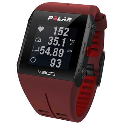 V800 GPS Sports Watch Waterproof w/H7 Heart Rate Sensor (Red) (OPEN BOX)