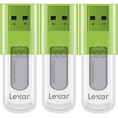 32 GB JumpDrive High Speed USB Flash Drive (Green) 3-Pack (96 GB Total)