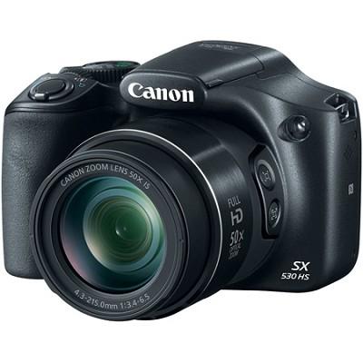 PowerShot SX530 HS 16.0 MP 50x Opt Zoom 1080p Full HD Digital Camera Black
