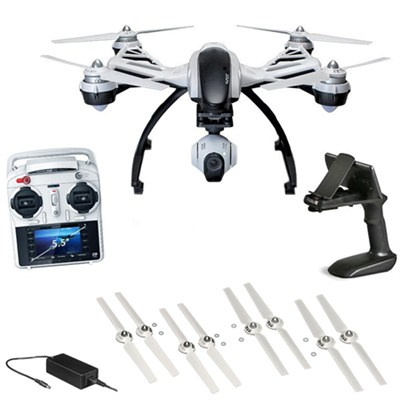Q500+ Typhoon Quadcopter Drone + 3-Axis Gimbal Camera, Steady Grip Bundle
