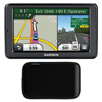 nuvi 2555LMT 5` GPS Navigation System w/ Lifetime Maps & Traffic Case Bundle