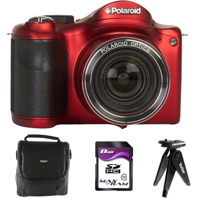 IS2634-RED/KIT-AMX 16 Digital Camera with 3-Inch LCD