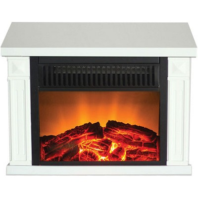 TZRF-10346 Zurich Tabletop Retro Electric Fireplace, White