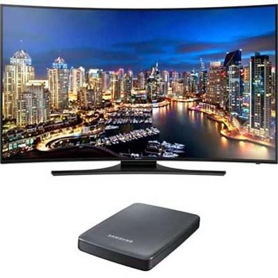 UN55HU7250 Curved 55-Inch 4K Ultra HD 120Hz Smart LED TV + UHD Video Pack