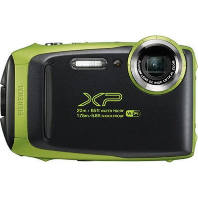 FinePix XP130 Waterproof Digital Camera Kit (Lime) with 16GB SD Memory Card