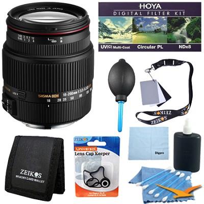 18-200mm F3.5-6.3 II DC OS HSM Zoom Lens for Canon EOS DSLR - Pro Lens Kit