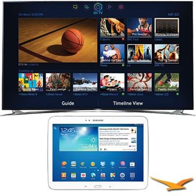 UN55F8000 - 55` 1080p 240hz 3D Smart Wifi LED HDTV - 10.1` Galaxy Tab 3 Bundle