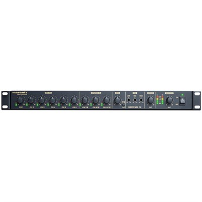 Rack Mix 12-Channel Line Audio Mixer with Priority Control