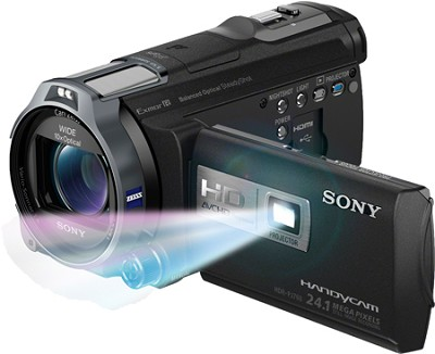 HDR-PJ760V 96GB HD Projector Camcorder 24.1 MP still with Geotagging - OPEN BOX