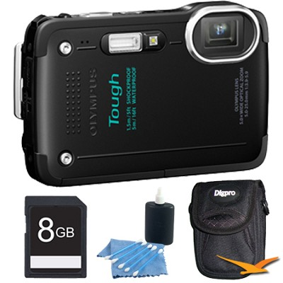 STYLUS TG-630 12MP 3-inch LCD 1080p HD Digital Camera Black with 8GB Kit
